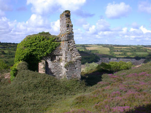 Ruined mine building