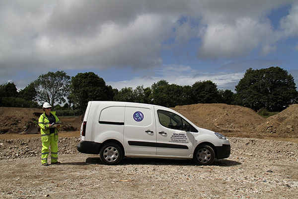 Spalding Associates van and staff on site